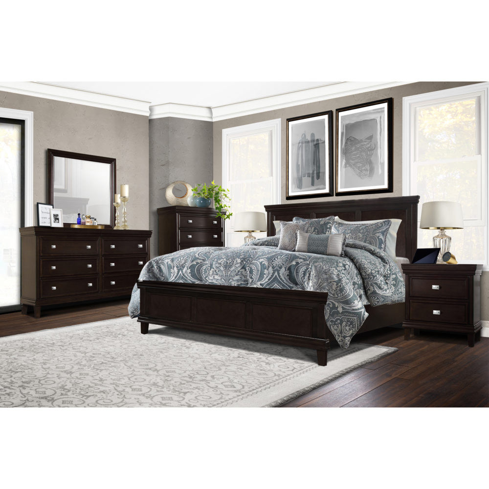 the castle bedroom collection evokes the transitional